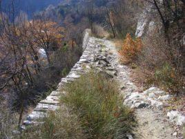 Старият римски път близо до Луковица.