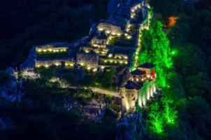 Асенова Крепост през нощта.