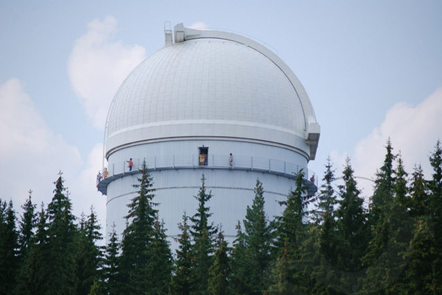 The beautiful dome of the Rozhen observatory